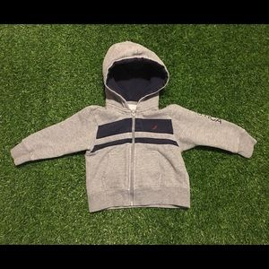 Toddlers Nautica Gray Hooded Sweatshirt Size 2T